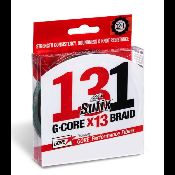 Sufix 131 G-Core 50lb Braid. 150yds Low-Vis Green