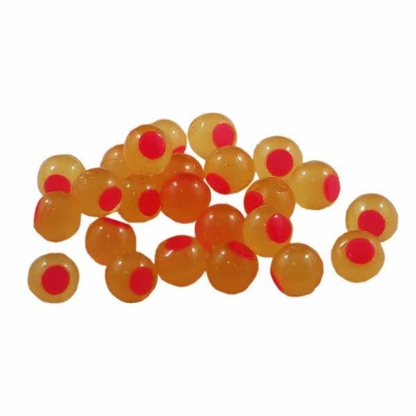 Cleardrift Tackle Cleardrift Embryo Soft Bead Yellow Mustard/Hot Pink Dot 8mm