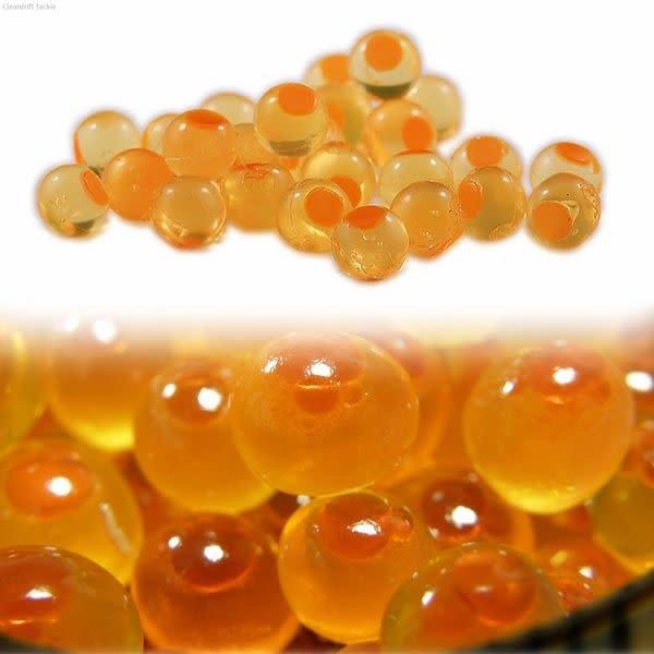 Cleardrift Tackle Embryo Soft Bead Natural Orange/Orange Dot 8mm