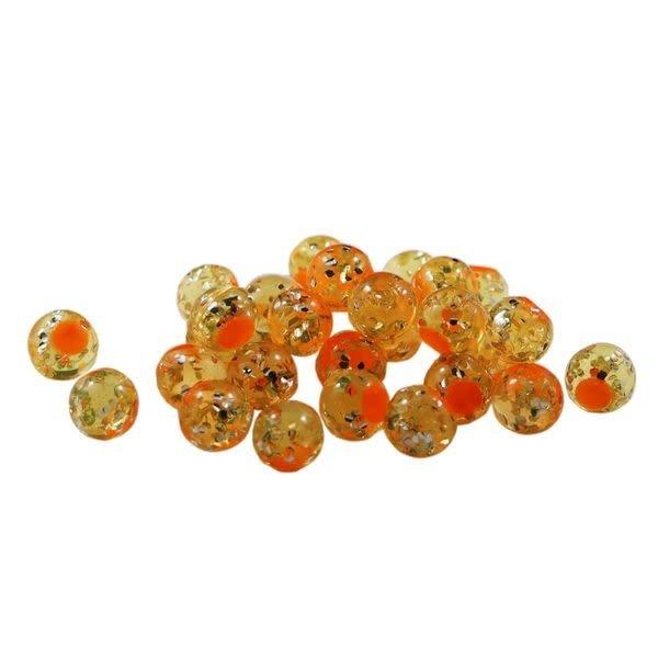 Cleardrift Tackle Cleardrift Tackle Glitter Bomb Natural Orange/Orange Dot 6mm