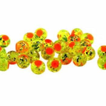 Cleardrift Tackle Cleardrift Tackle Glitter Bomb 6mm Chartreuse Orange Dot