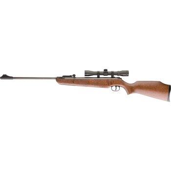 "Ruger 2244002 Air Hawk Break Barrel Air Rifle Combo, .177 Cal Pellet, 18.7"" Blued Bbl, Wood Stock, 4x32mm Scope, 490 FPS"