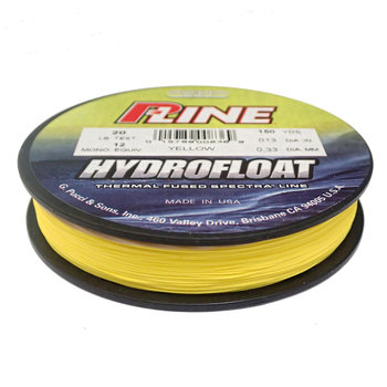 P-Line Hydro Float 10lb. Thermal Fused Spectra Line Yellow.
