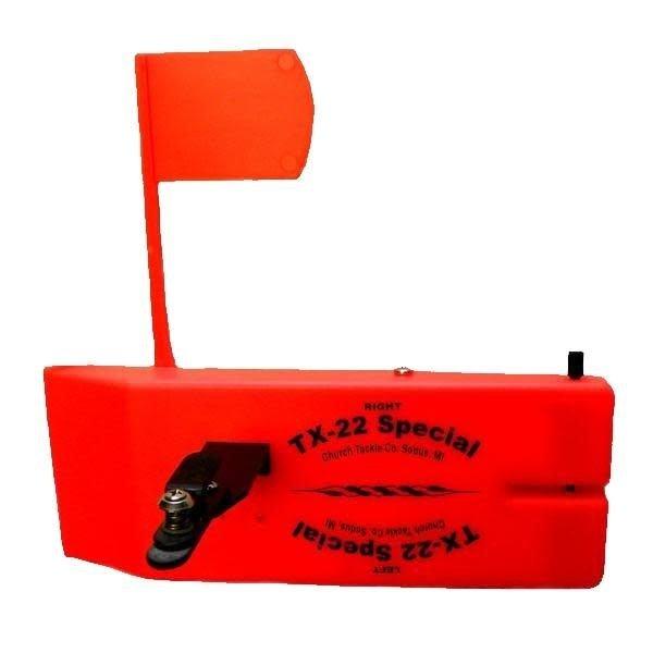 Church Tackle TX-22 In-Line Board. Orange Rev. Planer Board.