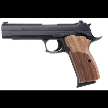 "Sig Sauer 210A-9-B P210A Standard Semi-Auto Pistol, 9MM 5"" Bbl, NitronFinish, Walnut Grips, 8+1 Rnd, Contrast Sights, 2 Mags"