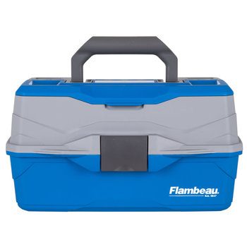 Flambeau 2-Tray Tackle Box, Blue/Green