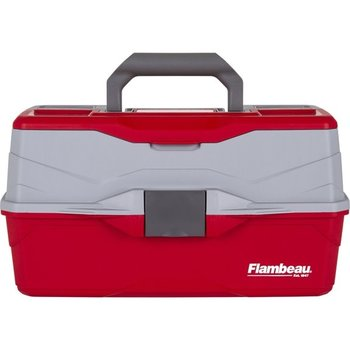Flambeau 6383TB 3-Tray Hard Tackle Box- Red (240007)