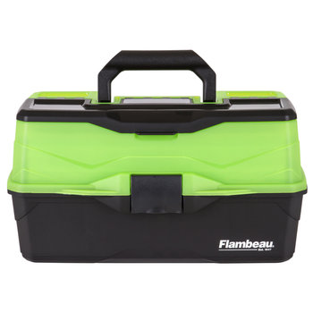 Flambeau 3-Tray Tackle Box, Black/Green