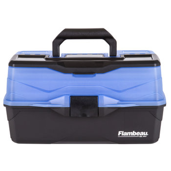 Flambeau 3-Tray Tackle Box, Black/Blue