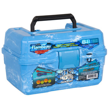 Flambeau 355BMR Flambeau Big Mouth Tackle Box Kit- Pearl Blue Swirl