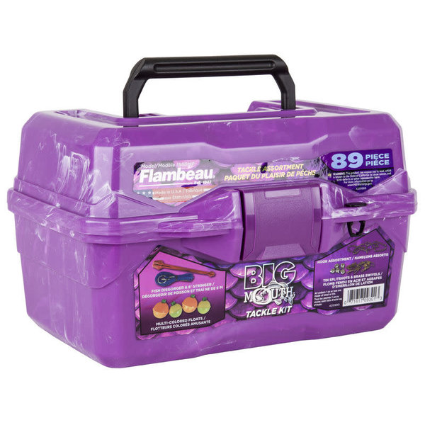Flambeau 355BMT Flambeau Big Mouth Tackle Box Kit- Purple Swirl
