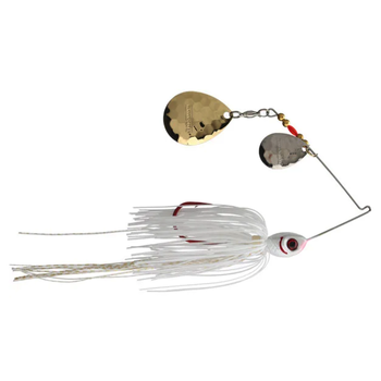 Booyah Tux N Tails 1/2oz Spinnerbait. White/Gold