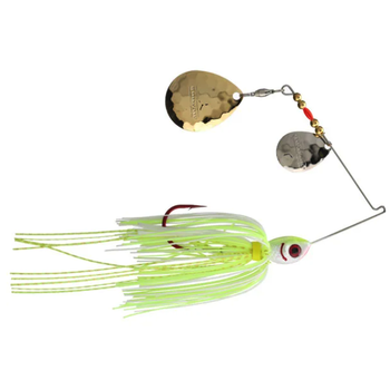 Booyah Tux N Tails 1/2oz Spinnerbait. Chartreuse & White/Gold