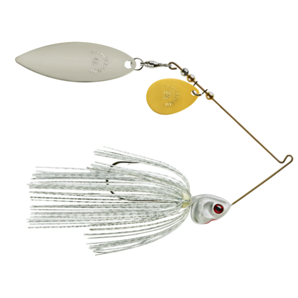 Booyah Covert Colorado Willow 1/2oz White Silver Scale. Nickle Top Willow