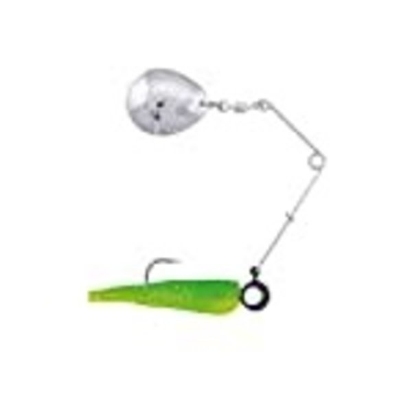 Johnson Beetle Spin 1/16oz  Green - Chartreuse Sparklee Chart Blade