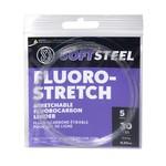 Okuma Soft Steel Fluoro-Stretch 25lb Stretchable Fluorocarbon Leader