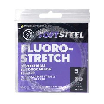 Okuma Soft Steel Fluoro-Stretch 40lb Stretchable Fluorocarbon Leader 25yds