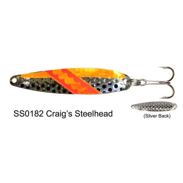 Dreamweaver Super Slim Spoon. Craig's Steelhead