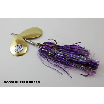 Musky Mayhem Tackle Double CowGirl. Purple Gold