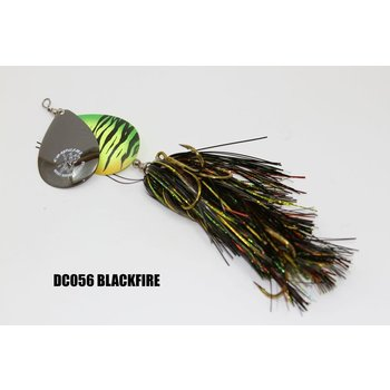 Musky Mayhem Tackle Double CowGirl. Black/Fire