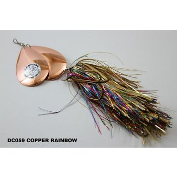 Musky Mayhem Tackle Double CowGirl. Copper Rainbow