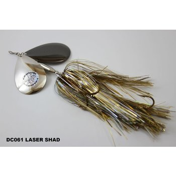 Musky Mayhem Tackle Double CowGirl. Laser Shad