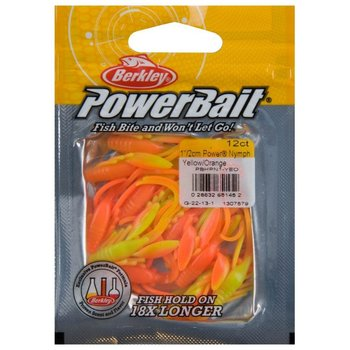 "PowerBait Power Nymph 1"" Yellow/Orange 12-pk"