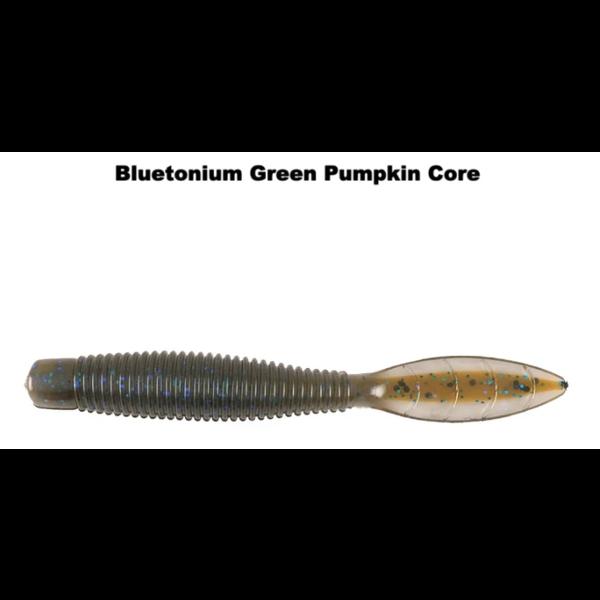 """Missile Baits Ned Bomb 3.25"""" Bluetonium Green Pumpkin Core 10-pk"""
