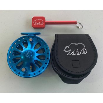 BER BER Zenith 5, Float Reel Electric Blue w/ Abec5 Bearings, Nebula Handles and Custom Bag and Tool.