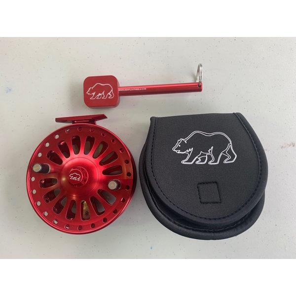 BER Summit 5 Float Reel, Bright Red, w/ Abec 5 Bearings Custom Baga nd Tool