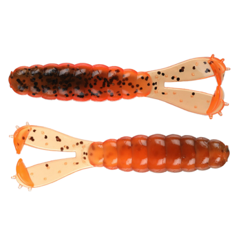 "Z-Man Goat Twin Tail Grub 3.75"" Green Pumpkin Orange 4-pk"