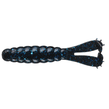 "Z-Man Goat Twin Tail Grub 3.75"" Black Blue 4-pk"