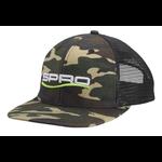 Spro Flat Bill Hat Camo White Logo