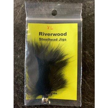 Riverwood Steelhead Jig XL Bunny Black