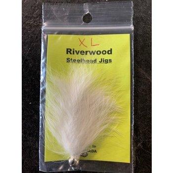 Riverwood Steelhead Jig XL Bunny White