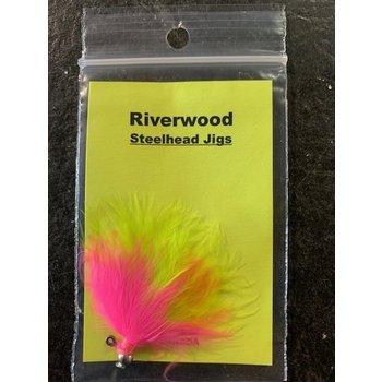 Riverwood Steelhead Jig Mini Two-Tone Pink/Chartreuse