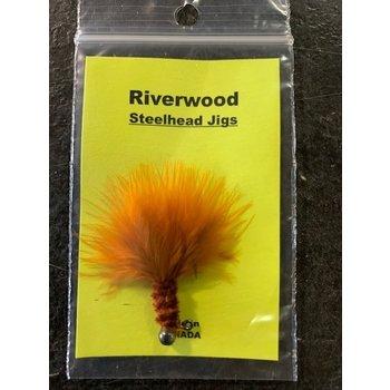 Riverwood Steelhead Jig Mini Marabou Chenille Brown/Orange