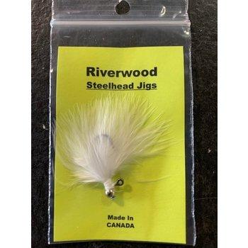 Riverwood Riverwood Steelhead Jig Mini Marabou White