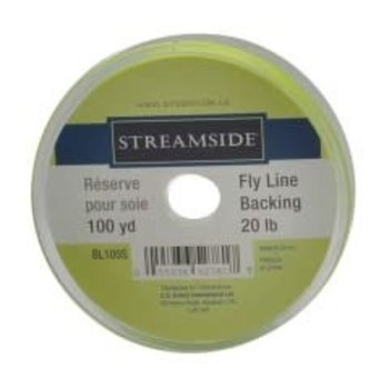 Streamside Fly Line Backing. 20lb Fl.Yellow 50 yds