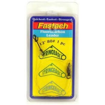 "Stringease Fastach Fluorocarbon Leader 130lb 18"" 1-pk"