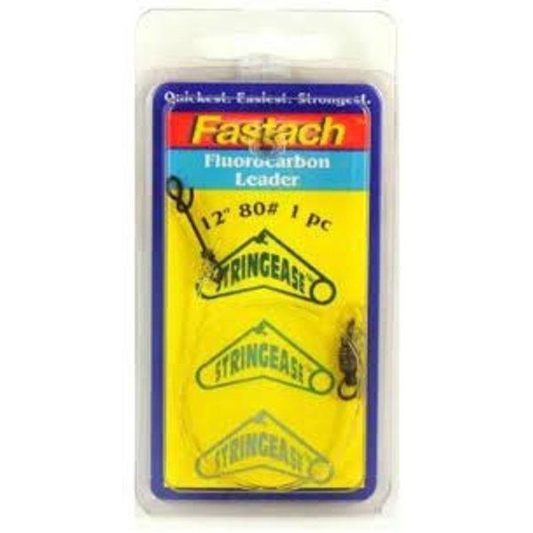 "Stringease Fastach Fluorocarbon Leader 130lb 24"" 1-pk"