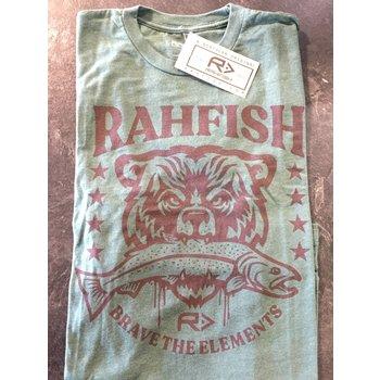 """RahFish Rahfish """"Brave the Elements"""" Short Sleeve T-Shirt Forest Green XXL"""