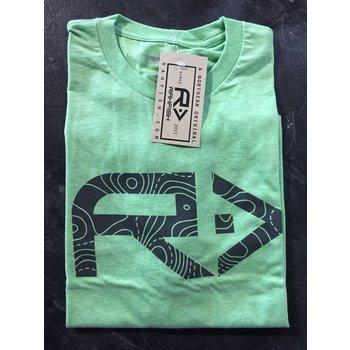 RahFish Rahfish Graph Life Short Sleeve Shirt Apple Green XL