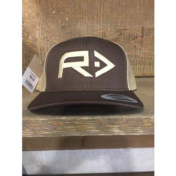 RahFish Big R Trucker Cap, Brown/Khaki