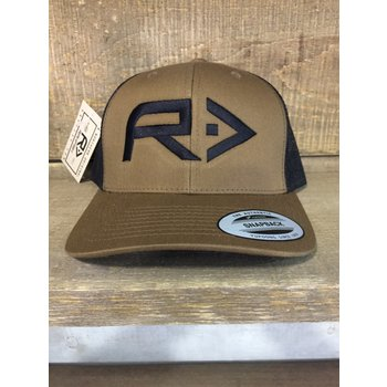 RahFish Rahfish Big R Trucker Cap Coyote BRN/BLK