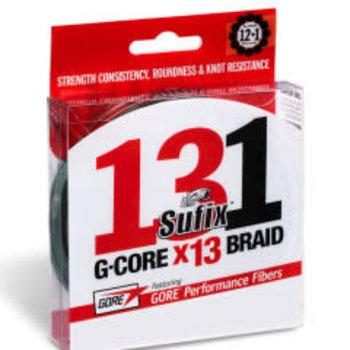 Sufix 131 G-Core 6lb Braid. 150yds Low-Vis Green