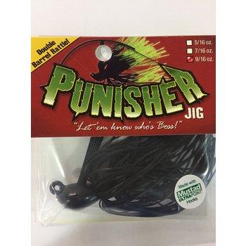 "Punisher Jigs Punisher Jig ""The Original""  BLACK 9/16"
