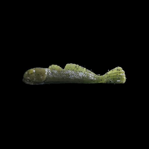 "Grumpy Bait Grumpy Goby. Green Pumpkin 3.25"" 6-pk"