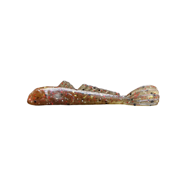 """Grumpy Bait Mini Goby. Natural Goby/Red 2.25"""" 10-pk"""