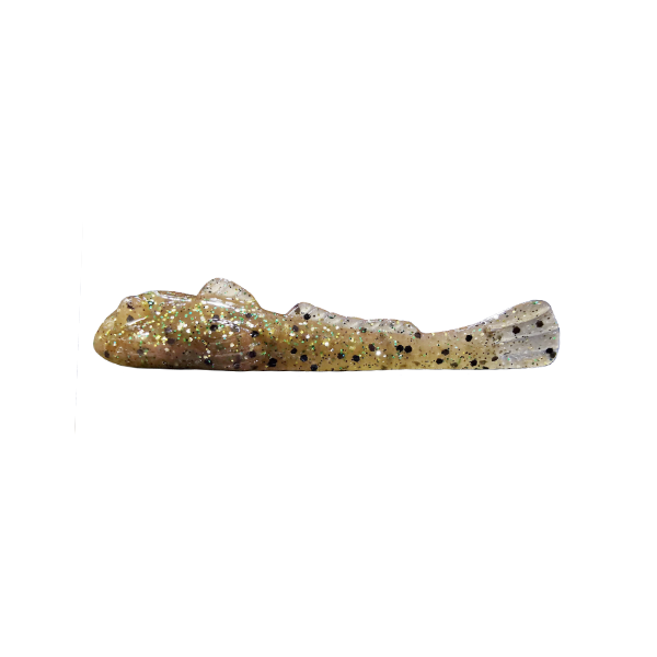 """Grumpy Bait Round Goby. Natural Goby/Green 2.6"""" 8-pk"""